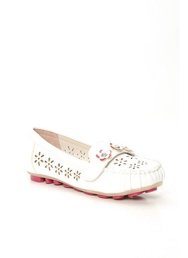 Violetta Shoes Babet Beyaz